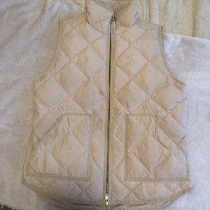 Tan Jcrew Puffer Vest
